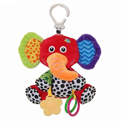 JTENGYAO Baby Infant Plush Animal Kids Stroller Hanging Elephant Toy Pram Cute Doll
