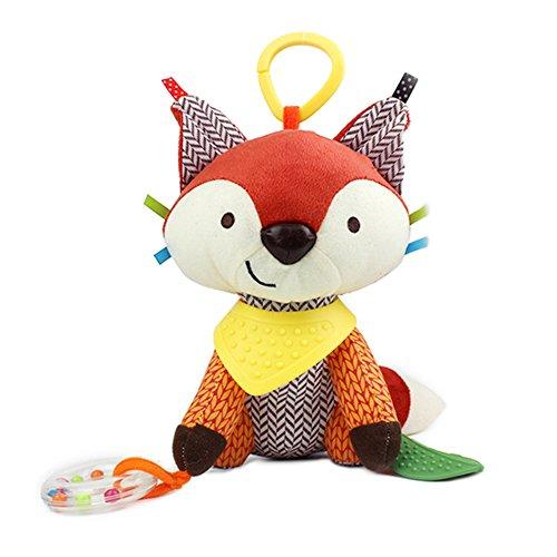 JTENGYAO Baby Infant Plush Animal Kids Stroller Hanging Fox Toy Pram Cute Doll