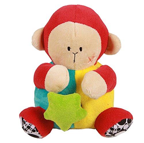 Newborn Gift Plush Pendant Hanging Bell Toy Doll Stroller ToysMonkey