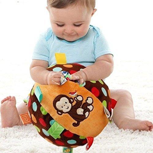 Baby Kid Child Taggies Spot Chime Rattles Soft Stuffed Plush Big Ball Sport Toy