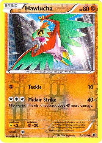 Pokemon - Hawlucha 39108 - XY Roaring Skies - Reverse Holo
