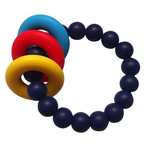 Navy Chewing Bracelet BPA Free Teether BabyToddler Silicone Teething Bracelet Mom Bracelet Collection Teething Chewable Beads Bracelet