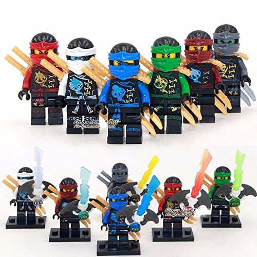 6 Sets Flying Phantom Ninjago Minifigures Building Toy Zane Lloyd Jay Block Toys ABS plasticnon-toxic age 6-69 years old