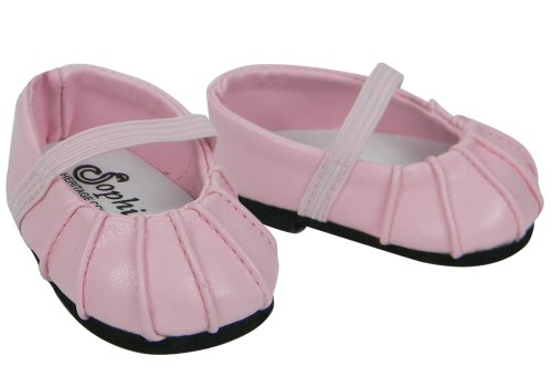 Baby Doll Shoes Fits Bitty Baby by American Girl Pink Ballerina Doll Flats