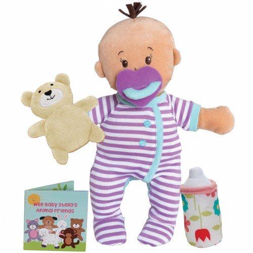 Manhattan Toy Wee Baby Stella Beige Sleepy Times Scent 12 Soft Baby Doll Set