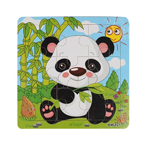 Catty Kelly Wooden Panda Jigsaw Toys Kids Education And Learning Puzzles Toys