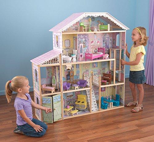KidKraft Majestic Chateau Mansion Wooden Dollhouse Play Set