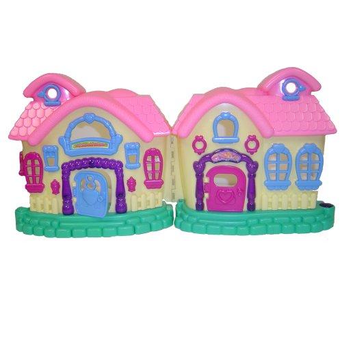 WeGlow International My Sweet Home Doll House And Play Set