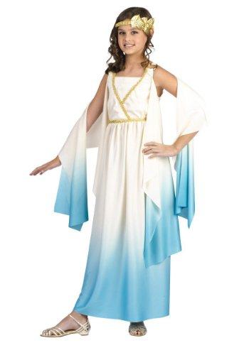 Child Greek Goddess Costume Roman Girls Halloween Costume 8-10
