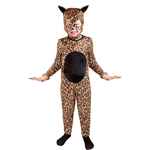 Childs Cheetah Cat Girl Halloween Costume Size Medium 8-10