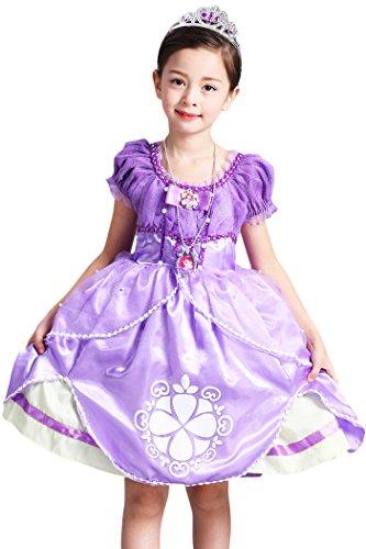 YMING Purple Princess Sofia Costume Halloween Costumes For Girls 2-3 Years