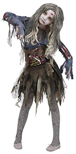 Zombie Girls Halloween Costume Medium 8-10