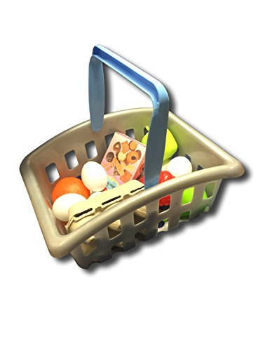 Molto Kids Role Play Toy Shop Shopping Grocery Basket With Plastic Food by Molto