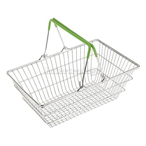 Sangdo Green Medium Metal Shopping Basket Table Storage Basket Kids Role Play Toys