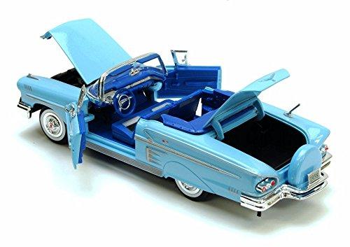 1958 Chevrolet Impala Convertible Blue - Motormax Premium American 73267 - 124 Scale Diecast Model Car