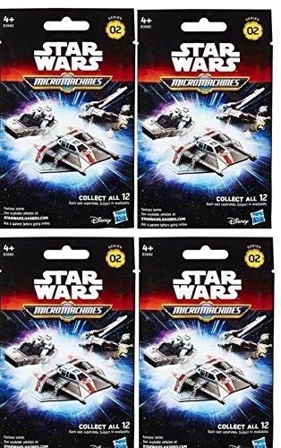 Stars Wars Micromachines Blind Vehicles Series 2 Bundle 4 pack