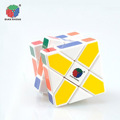 DianSheng Three-layer Square Rhomboid Shape Mode Magic Cube Speed Puzzle Cubes Educational Toy Special Toys White