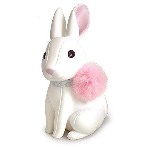 DomeStar Cute Rabbit Piggy Bank Coin Bank White Best Christmas Gift