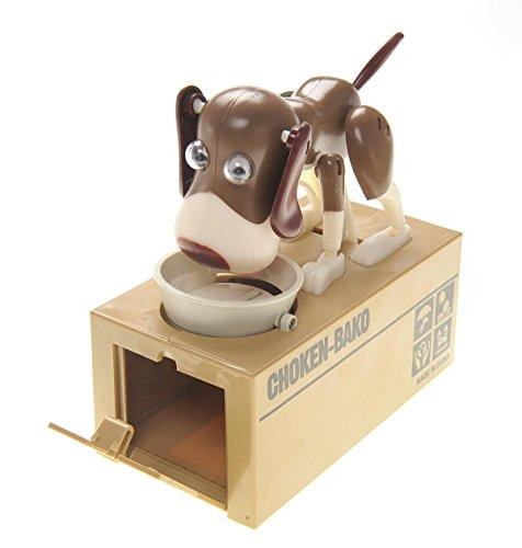 PowerTRCÂ Toy Figure Dog Piggy Bank White Brown