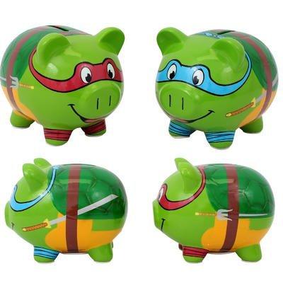 Teenage Mutant Ninja Turtles Leonardo Ceramic Piggy Bank Leo Coin Bank TMNT Coin Deposit