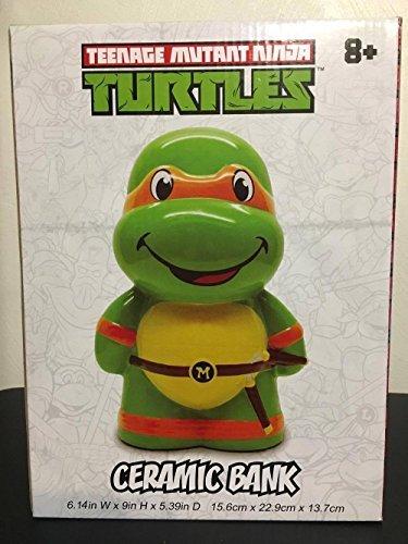 Teenage Mutant Ninja Turtles Michelangelo Mikey Ceramic Piggy Bank Coin Bank