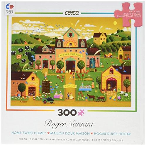Ceaco Roger NanniniHome Sweet Home - Peachies Peach Farm Puzzle 300 Piece