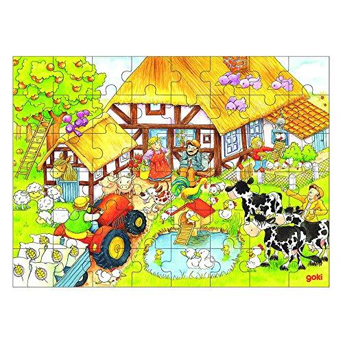Goki Wooden Grandmas Grandpas Farm Puzzle 48 Piece