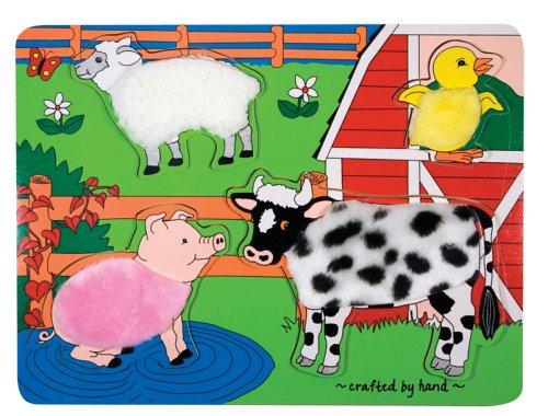 Melissa Doug Fuzzy Farm Puzzle