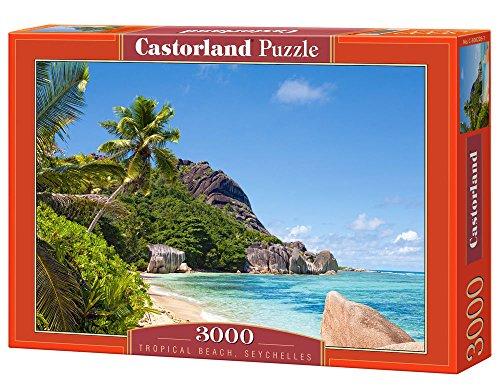 Tropical Beach Seychelles 3000 Piece Jigsaw Puzzle By Castorland Puzzles