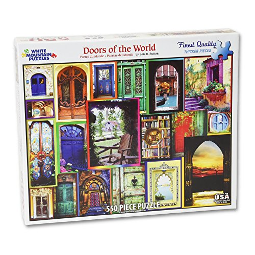 White Mountain Puzzles Doors of the World - 550 Piece Jigsaw Puzzle