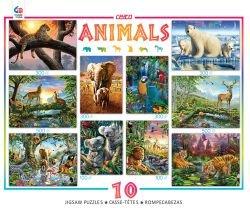 Ceaco 10-in-1 Multi Pack Animals Puzzle 100 Piece