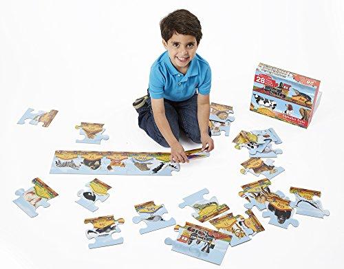 Melissa Doug Alphabet Train Jumbo Jigsaw Floor Puzzle - Letters and Animals 28 pcs 10 feet long
