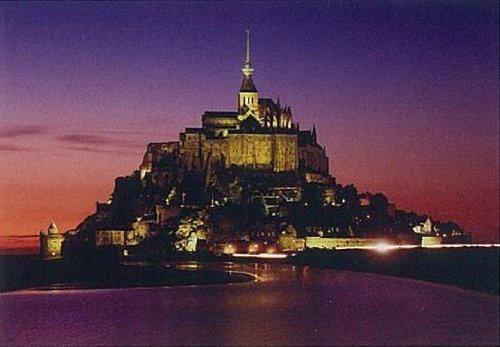 Mont-Saint-Michel TP-704-598 of dusk Pure White Jigsaw Puzzle 704 piece japan import
