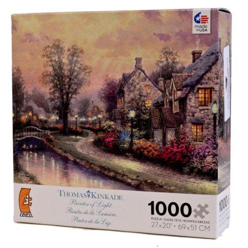Thomas Kinkade 1000pc Puzzle-Lamplight Lane by Ceaco
