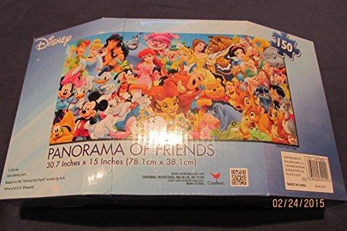 Qiyun New Disney Panorama of Friends 150 Piece Jigsaw Puzzle 30x15 inches Boy Girl 9