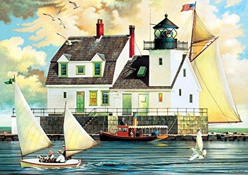 Buffalo Games Rockland Breakwater Light by Charles Wysocki Jigsaw Puzzle 300 Piece Large