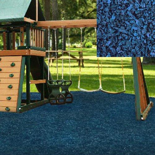 Swing Set Playground Rubber Mulch 75 CuFt Pallet-Blue
