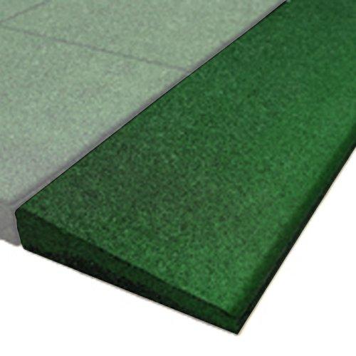 PlayFall Playground Safety Surfacing Bevel Edge Border-Green-250 Single