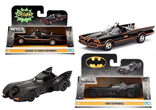 Jada 132 Metals 1966 Classic TV Series Batmobile and Batman 1989 Batmobile Die-Cast Vehicles
