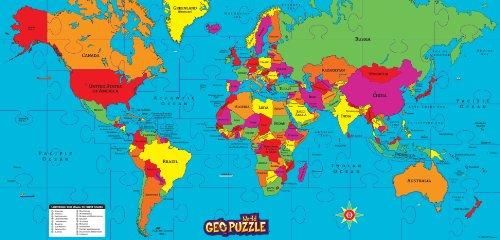 GeoPuzzle World - Educational Geography Jigsaw Puzzle 68 pcs