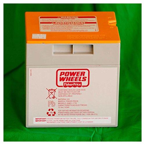 Power Wheels Gray-Orange Top 12 volt Battery 12V 00801-1776