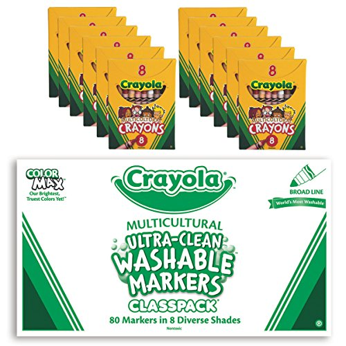 Crayola Multicultural Marker Crayon Easy Pack