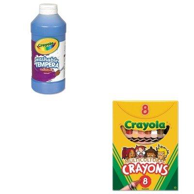 KITCYO52008WCYO543115042 - Value Kit - Crayola Multicultural Crayons CYO52008W and Crayola Artista II Washable Tempera Paint CYO543115042