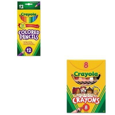KITCYO52008WCYO684012 - Value Kit - Crayola Multicultural Crayons CYO52008W and Crayola Long Barrel Colored Woodcase Pencils CYO684012