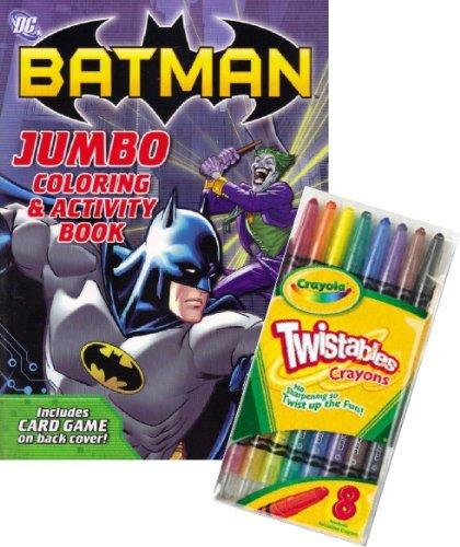 DC Comics BATMAN Coloring Book Set with Crayola Twistable Crayons by DC Comics