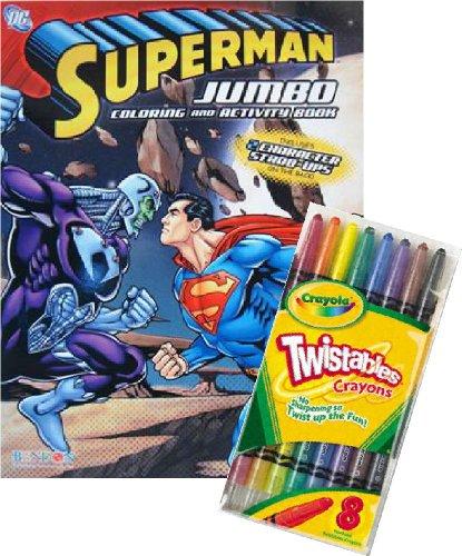 DC Comics SUPERMAN Coloring Book Set with Crayola Twistable Crayons