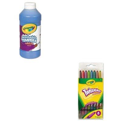 KITCYO527408CYO543115042 - Value Kit - Crayola Twistable Crayons CYO527408 and Crayola Artista II Washable Tempera Paint CYO543115042