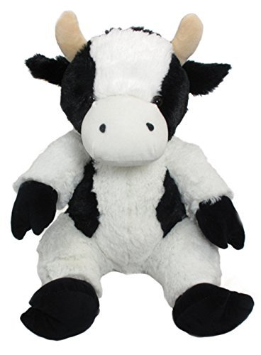 Wishpets Plush 14 Black and White Stuffed Holstein Cow