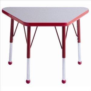 ECR4Kids 18 x 30 Adjustable Learning Activity Table GreyRed - Standard Leg Ball Glide
