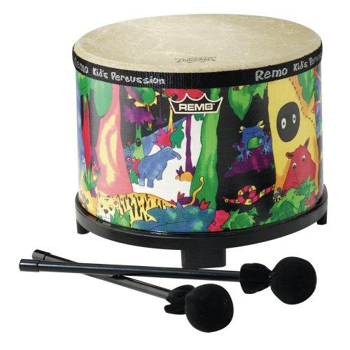 Remo Kids Percussion Floor Tom Drum - Fabric Rain Forest 10